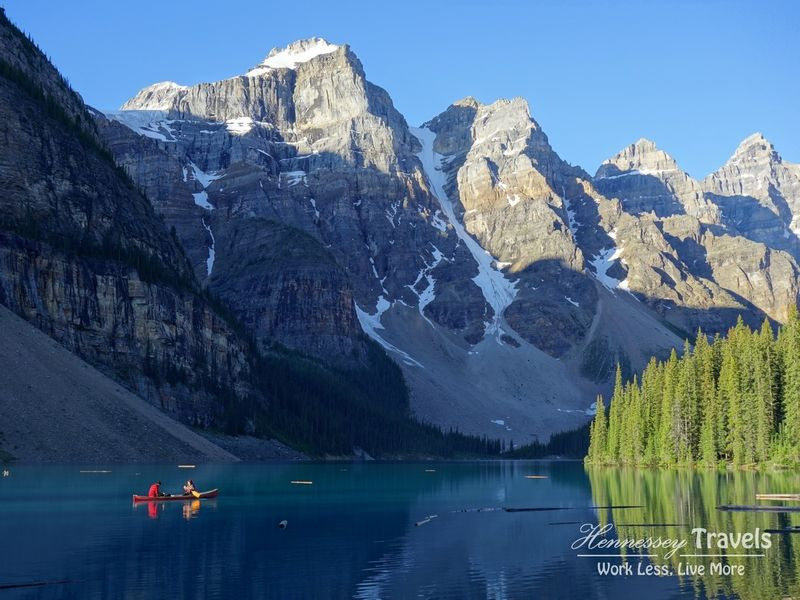 Canadian Rockies Moraine Lake Canoe with Hennessey Travels
