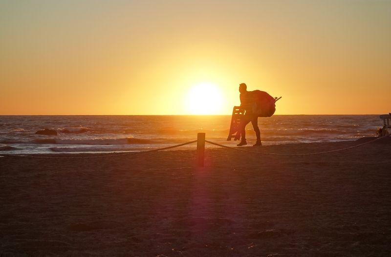 Heading Home Playa Brujitas Sunset Mazatlan
