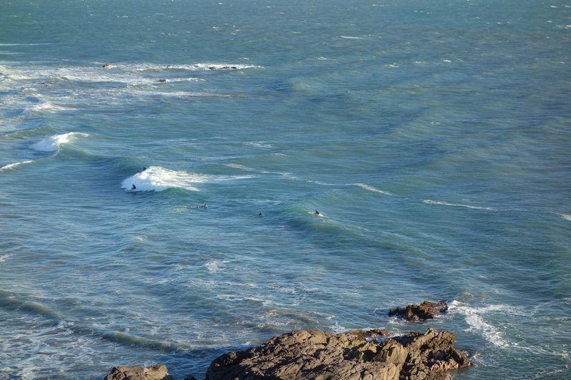 Playa Brujitas Surfing from Viewpoint
