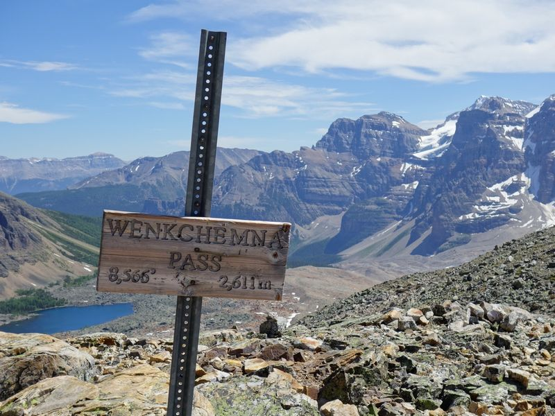 Wenkchemna Pass Sign